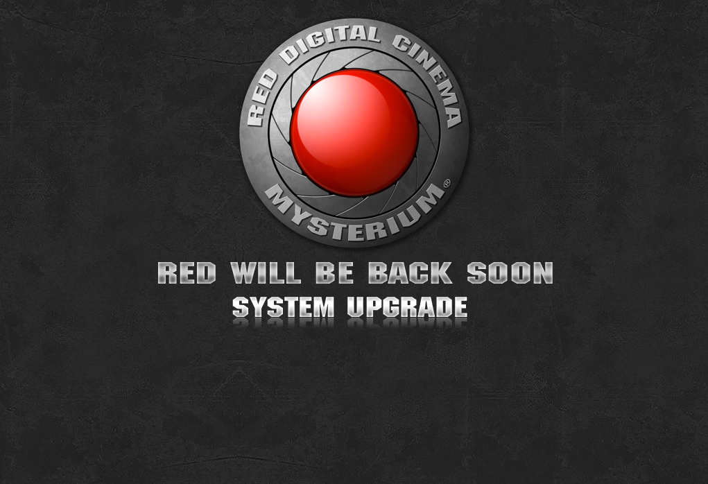 RED.com down for SYSTEM UPGRADE